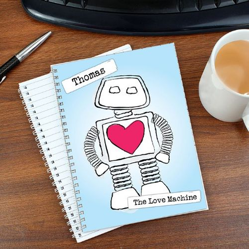 Personalised Love Machine A5 Notebook